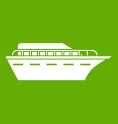powerboat icon green vector image