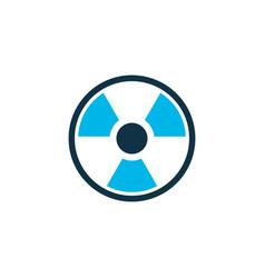 radioactive icon colored symbol premium quality vector image