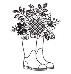 Rain boots floral vector