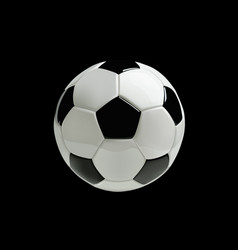 Realistic soccer ball on black background vector