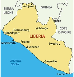 Republic of liberia - map vector