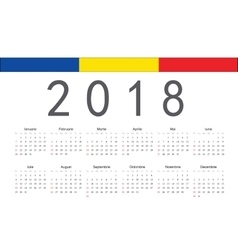 Romanian 2018 year calendar vector