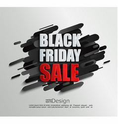 sale banner for black friday on dynamic background vector image
