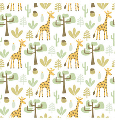 Seamless safari pattern vector