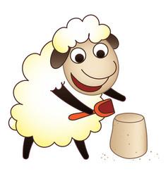 sheep play icon cartoon style vector image