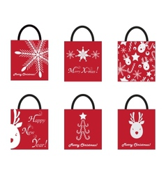 Shoping Bags for Christmas vector image