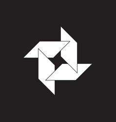 simple turbine shape industrial geometric logo vector image