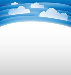 sky and clouds background template vector image