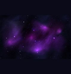 space background with shining stars and realistic vector image