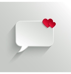 Speech bubble Valentines day backround vector