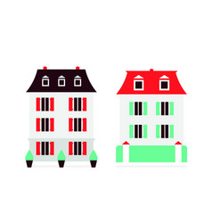 Switzerland flat modern icons of houses vector