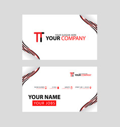 The tt logo on red black business card with a vector