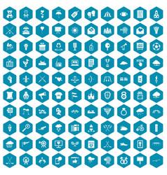 100 arrow icons sapphirine violet vector image vector image