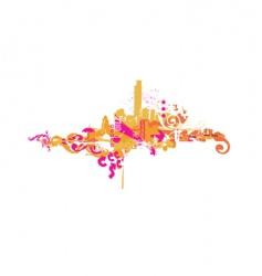 big city vector image vector image