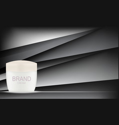 face cream bottle tube template for ads or vector image
