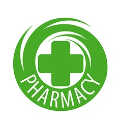 Round abstract logo for pharmaceutical companies vector image