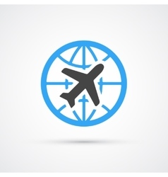 Trendy airplane travel flight icon vector image