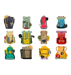 backpack rucksack travel tourist knapsack outdoor vector image