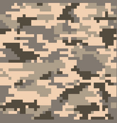 Digital pixel camouflage seamless pattern vector