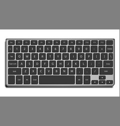 laptop keyboard letters and buttons vector image vector image