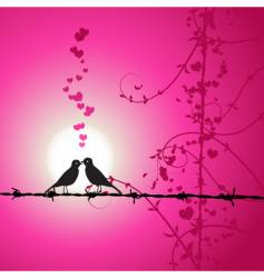 love birds kissing vector image