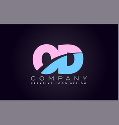od alphabet letter join joined letter logo design vector image