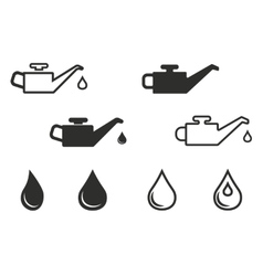 Oil icon set vector image vector image
