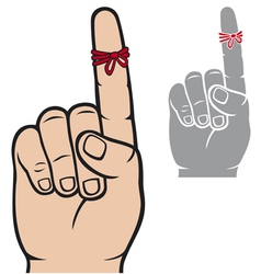 string around the finger reminder vector image vector image
