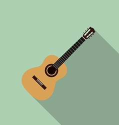 Acoustic guitar flat design vector image vector image