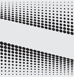 halftone dots on white background vector image vector image