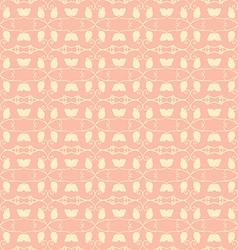 Neutral floral ornament beige color vector image vector image