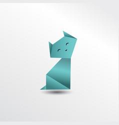 Origami cat vector