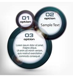 Round info graphic vector image