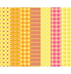 Set of simple seamless pattern 7 vector image vector image