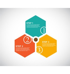 3 cards with numbers and place for your text vector image