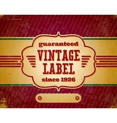 Aged vintage label vector image