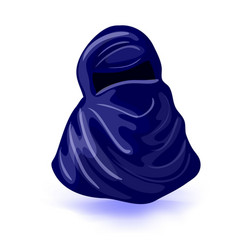 arabic muslim woman niqab isolated drawing on a vector image vector image