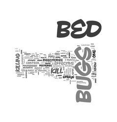 Bed bugs how to kill text word cloud concept vector