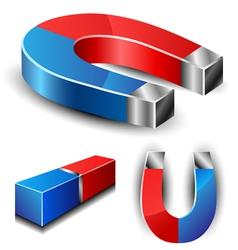 Magnet set vector image vector image