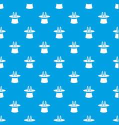 rabbit ears appearing from a top magic hat pattern vector image