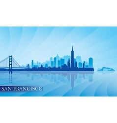 San Francisco city skyline silhouette background vector image