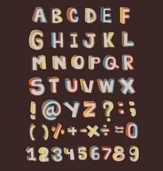 109 cartoon font ieps vector