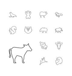 13 mammal icons vector