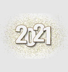 2021 new year background festive premium design vector image