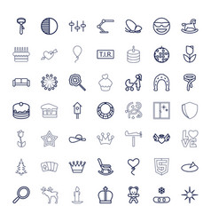 49 decoration icons vector