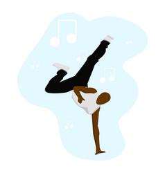 Afro man dancing vector