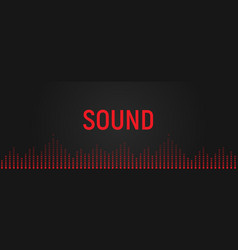 audio equalizer voice range recognition vector image