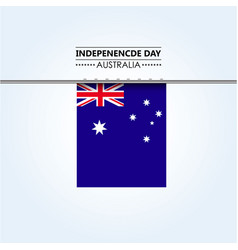 australia independence day vector image