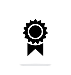Badge simple icon on white background vector
