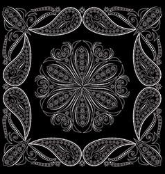 Bandana paisley design- print square vector